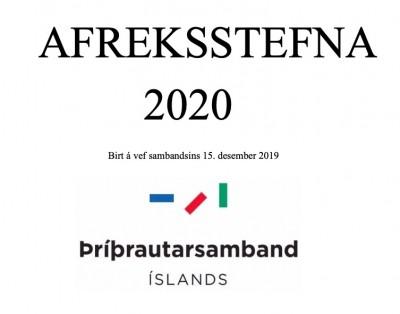 Afreksstefna 2020